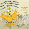 Cartoon: Crazy bird (small) by Yavou tagged parrot,crazy,bird,president,donald,trump,television,tv,media,hysteria