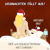 Cartoon: Ho! Ho! ho! (small) by Yavou tagged feiertage,corona,weihnachten,weihnachtsmann,bett,carina,sex,sarscov,virus,maske,pandemie,lockdown,epidemie,cartoon