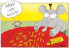 Cartoon: Jenga - ENG (small) by Yavou tagged elephant,mouse,jenga,animals,game,yavou,loosing