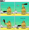 Cartoon: MRR 8 EN (small) by Yavou tagged stupid bird mrr comicstrip stoneage ufo unidentified flying object saucer caveman bat extra