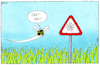 Cartoon: Oh! Oh! (small) by Yavou tagged hummel,bumblebee,stvo,straßenschild,sign,wiese,gras,insekt,spinne,spinnennetz,warning,warnung