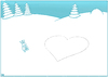Cartoon: Schneehasen (small) by Yavou tagged schneehasen hasen schnee winter herz liebe bunnies snow rabbits love karnickel kaninchen easter ostern yavou cartoon
