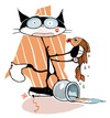 Cartoon: romeo and juliet (small) by dan8 tagged cat fish gatto pesce love amore