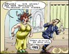 Cartoon: Fatale Polarisation (small) by KritzelJo tagged party,mann,frau,magnetisch,polarisieren