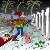 Cartoon: Happy New Year! (small) by KritzelJo tagged silvester,2011