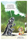Cartoon: Ankatrin Skywalker (small) by GYMMICK tagged gymmick,star,wars,starwars,darth,vader,luke,skywalker