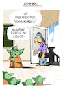 Cartoon: Yoga Kurs (small) by GYMMICK tagged yoga,yoda,gymmick,cartoon,starwars