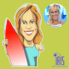 Cartoon: caricature of  bethany hamilton (small) by Gamika tagged caricature
