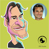Cartoon: caricature of roger federer (small) by Gamika tagged caricature,of,roger,federer