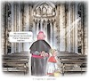 Cartoon: Leere Kirchen (small) by Ritter-Karikaturen tagged kirchenaustritte,bischof,messdiener