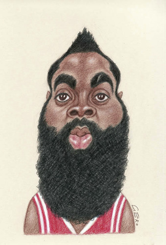 Cartoon: James Harden (medium) by Gero tagged caricature