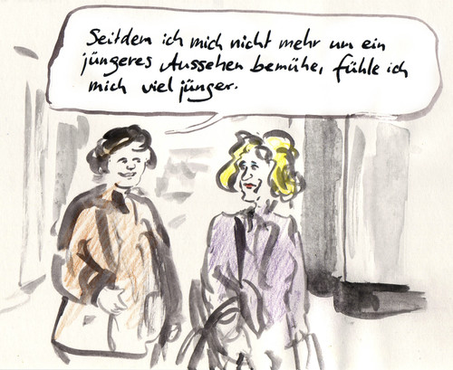 Cartoon: Antiaging (medium) by Bernd Zeller tagged antiaging,jugend,alter