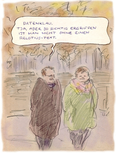 Cartoon: Datenklau (medium) by Bernd Zeller tagged journalismus