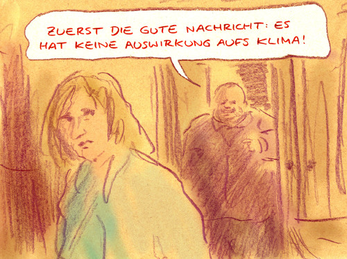 Cartoon: Entschuldigung (medium) by Bernd Zeller tagged klima