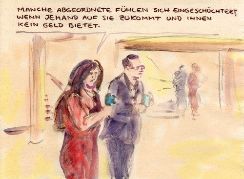 Cartoon: Kein Lobbyist (medium) by Bernd Zeller tagged bundestag