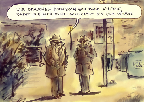 Cartoon: NPD-Verbot eilig (medium) by Bernd Zeller tagged npd,verbot