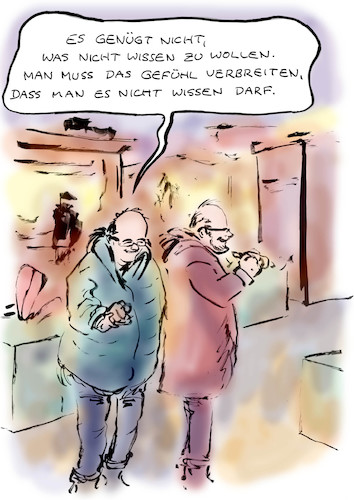 Cartoon: Pressearbeit (medium) by Bernd Zeller tagged journalisten