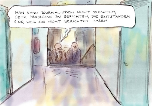 Cartoon: Presserecht (medium) by Bernd Zeller tagged journalisten