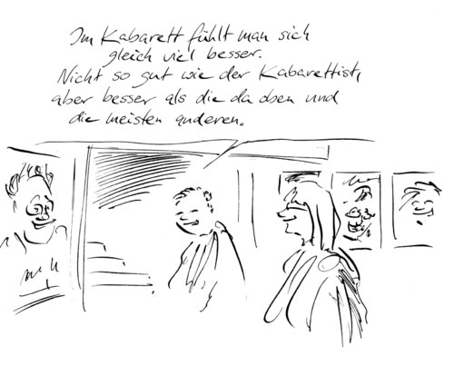 Cartoon: Publikum (medium) by Bernd Zeller tagged kabarett