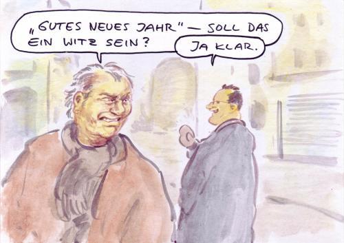 Cartoon spaß medium by bernd zeller tagged neujahr 2009 prognose