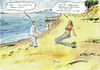 Cartoon: Am Meer (small) by Bernd Zeller tagged meerjungfrai,mermaid