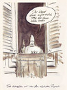 Cartoon: Moderner Papst... (small) by Bernd Zeller tagged papst,modern