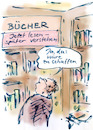 Cartoon: Stoffmenge (small) by Bernd Zeller tagged bücher