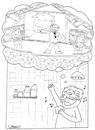 Cartoon: Concert in the shower (small) by ozanootrac tagged shower,singer,song,happiness,happy,concert,shampoo,water,dream,imagination