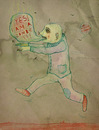 Cartoon: Flying Zombie (small) by VLADIMIR tagged zombie,cartoon