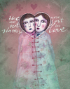 Cartoon: Love (small) by VLADIMIR tagged love,illustration,cartoon,siamese