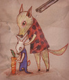 Cartoon: What is going on? (small) by VLADIMIR tagged illustration,animals,guns,colors