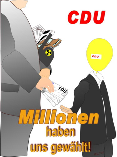 Cartoon: CDU -Millionen haben uns gewähl (medium) by hello10 tagged cdu,politik,millionen