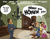Cartoon: Der Mob (small) by Charmless tagged mob,leuchte,innenarchitektur