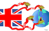 Cartoon: B.1.1.7 (small) by Fish tagged b117,mutation,mutante,virus,covid,19,corona,england,briten,gefährlicher,tödlicher,studien,bedrohung,impfmittel,schlangen,union,jack,flagge,welt,erde,erdkreis,globus