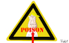 Cartoon: Poison (small) by Fish tagged trump,usa,president,verlierer,wahl,deutsche,gift,poison,achtung,warnschild,bank,partner,geschäftspartner