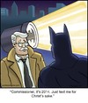 Cartoon: Batcell (small) by noodles tagged batman,cell,commissioner,gordon,text,bat,signal