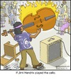 Cartoon: Jimi (small) by noodles tagged jimi hendrix cello music noodles fire orchestra
