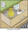Cartoon: Junk Drawer (small) by noodles tagged boxing junk drawer mike tyson ear pigeon