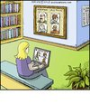 Cartoon: Wanted (small) by noodles tagged internet,online,dating,wanted,poster,library,noodles