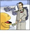 Cartoon: Who Ya Gonna Call? (small) by noodles tagged ghostbusters pacman video game
