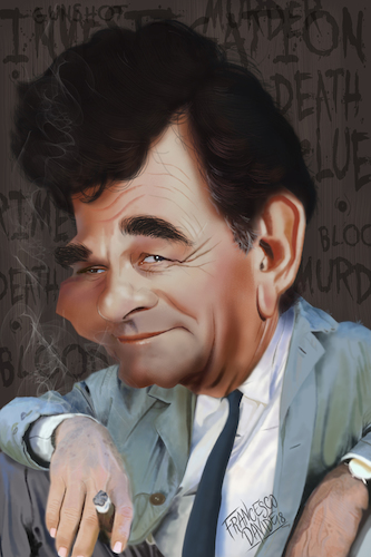 Cartoon: Peter Falk as Lieutenant Columbo (medium) by Francesco tagged peterfalk,columbo