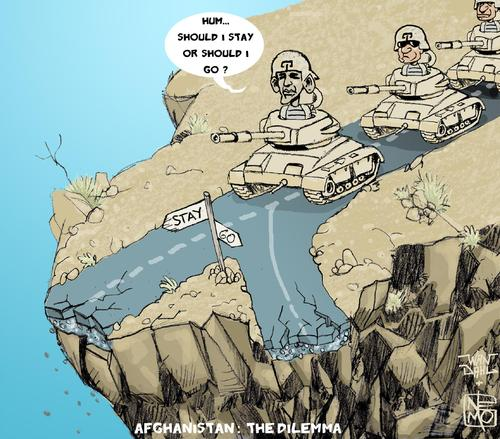 Cartoon: Afghanistan The Dilemma (medium) by NEM0 tagged america,of,states,united,usa,nemo,dahl,wan,war,surge,troops,military,us,stay,repatriate,soldiers,soldier,peace,mideast,mid,east,middle,fights,fight,dilemma,go,conflict,obama,barak,army,americans,american,afghans,afghan,afghanistan