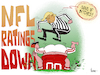 Cartoon: NFL Ratings Down (small) by NEM0 tagged nfl,national,football,league,ratings,donald,trump,refree,patriotic,unpatriotic,disrespect,flag,us,usa,nemo,nem0
