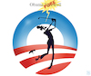 Cartoon: Obama Farewell (small) by NEM0 tagged barack,obama,farewll,golf,fore,goof,vacation,hawai,liar,lies,worst,us,usa,president,administration