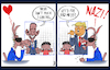 Cartoon: Outrage Over Separated Families (small) by NEM0 tagged donald,trump,barack,obama,media,hypocrisy,family,outrage,illegals,aliens,immigrant,illegal,immigrants,border,build,the,wall,dhs,ice,homeland,security,kirstjen,nielsen,cages,kids,smugglers,human,traffick,flores,settlement,nem0
