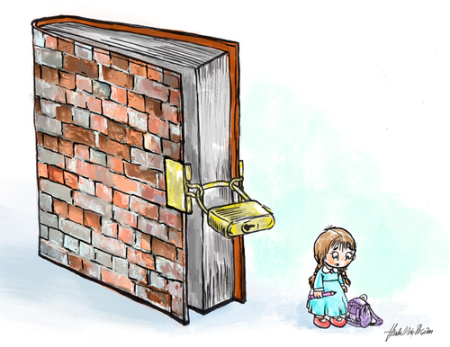 Cartoon: education (medium) by handelizm tagged education,love,book,humour,cartoon