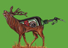 Cartoon: Hirsch (small) by Battlestar tagged jägermeister hirsch tier tiere illustration schmerz jäger tod sterben