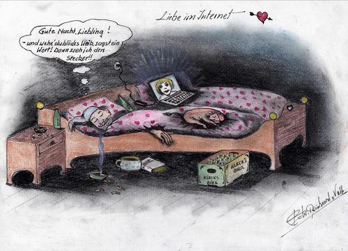 Cartoon liebe im internet medium by bvhabenicht tagged liebe pc