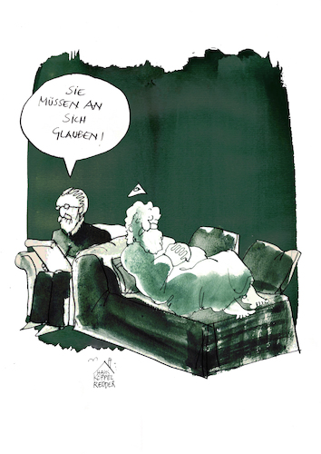Cartoon: Glaube (medium) by Koppelredder tagged gott,freud,glaube,psychoanalyse,selbstbewusstsein,couch,gott,freud,glaube,psychoanalyse,selbstbewusstsein,couch