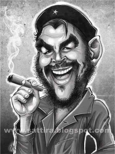 Cartoon: Ernesto Guevara (medium) by sattira tagged sattira